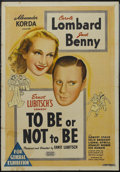 """Movie Posters:Comedy, To Be or Not to Be (United Artists, 1942). Australian One Sheet (27"""" X 40""""). Comedy. Starring Carole Lombard, Jack Benny, Ro..."""