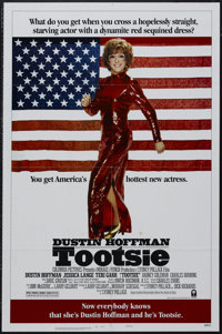 "Tootsie (Columbia, 1982). One Sheet (27"" X 41"") Style B. Romantic Comedy. Starring Dustin Hoffman, Jessica Lan..."