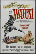 "Movie Posters:Adventure, Watusi (MGM, 1959). One Sheet (27"" X 41""). Adventure. StarringGeorge Montgomery, Taina Elg, David Farrar, Rex Ingram and Da..."