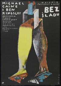 """Without a Clue (Orion, 1988). Polish Poster (26.25"""" X 37.5""""). Comedy. Starring Michael Caine, Ben Kingsley, Je..."""