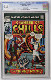 """Chamber of Chills #3 (Marvel, 1973) CGC NM+ 9.6 Off-white pages. Adaptation of Robert E. Howard's """"The Thing On The..."""
