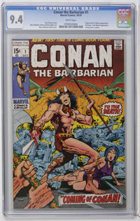 Conan the Barbarian #1 (Marvel, 1970) CGC NM 9.4 White pages. Not only does this issue have the origin and first comic b...