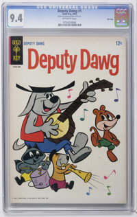 Deputy Dawg #1 File Copy (Gold Key, 1965) CGC NM 9.4 Off-white pages. Overstreet 2006 NM- 9.2 value = $180. CGC census 8...