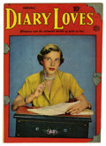 """Golden Age (1938-1955):Romance, Diary Loves #4 Davis Crippen (""""D"""" Copy) pedigree (Quality, 1950)Condition: VF-. Reed Crandall art. Photo cover. Overstreet ..."""