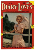 "Golden Age (1938-1955):Romance, Diary Loves #5 Davis Crippen (""D"" Copy) pedigree (Quality, 1950)Condition: FN/VF. Photo cover. Overstreet 2006 FN 6.0 value..."