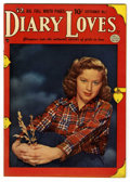 """Golden Age (1938-1955):Romance, Diary Loves #7 Davis Crippen (""""D"""" Copy) pedigree (Quality, 1950)Condition: VF+. Photo cover. Overstreet 2006 VF 8.0 value =..."""