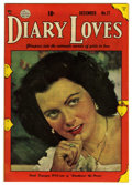 "Golden Age (1938-1955):Romance, Diary Loves #17 Davis Crippen (""D"" Copy) pedigree (Quality, 1951)Condition: VF+. Photo cover. Overstreet 2006 VF 8.0 value ..."