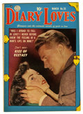 "Golden Age (1938-1955):Romance, Diary Loves #20 Davis Crippen (""D"" Copy) pedigree (Quality, 1952)Condition: VF. Photo cover. Overstreet 2006 VF 8.0 value =..."