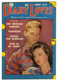 """Golden Age (1938-1955):Romance, Diary Loves #24 Davis Crippen (""""D"""" Copy) pedigree (Quality, 1952)Condition: VF+. Photo cover. Overstreet 2006 VF 8.0 value ..."""