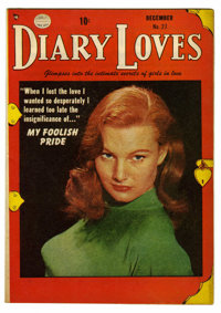 """Diary Loves #27 Davis Crippen (""""D"""" Copy) pedigree (Quality, 1952) Condition: VF. Photo cover. Overstreet 2006..."""