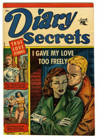 "Diary Secrets #11 Davis Crippen (""D"" Copy) pedigree (St. John, 1952) Condition: VF+. Overstreet 2006 VF 8.0 va..."