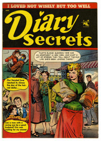 "Diary Secrets #14 Davis Crippen (""D"" Copy) pedigree (St. John, 1952) Condition: VF+. Matt Baker cover. Overstr..."