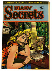 "Diary Secrets #20 Davis Crippen (""D"" Copy) pedigree (St. John, 1953) Condition: VF. Matt Baker cover. Overstre..."