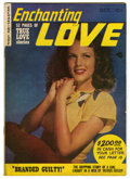 "Golden Age (1938-1955):Romance, Enchanting Love #1 Davis Crippen (""D"" Copy) pedigree (KirbyPublishing, 1949) Condition: VF/NM. Photo cover. Overstreet 2006..."