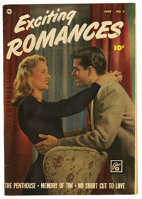 """Exciting Romances #3 Davis Crippen (""""D"""" Copy) pedigree (Quality, 1950) Condition: VF. Photo cover. Wally Wood..."""