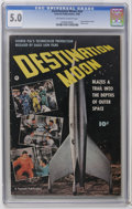 "Golden Age (1938-1955):Science Fiction, Fawcett Movie Comic #nn Destination Moon (Fawcett, 1950) CGC VG/FN5.0 Off-white to white pages. Adapts George Pal's movie ""..."