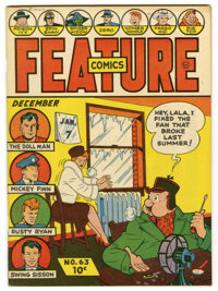 Feature Comics #63 Mile High pedigree (Quality, 1942) Condition: NM-. Overstreet 2006 NM- 9.2 value = $250. From the Col...