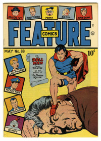 Feature Comics #88 Mile High pedigree (Quality, 1945) Condition: NM. Doll Man cover. Overstreet 2006 NM- 9.2 value = $18...
