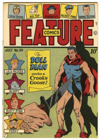 Feature Comics #89 Mile High pedigree (Quality, 1945) Condition: NM. Doll Man cover. Overstreet 2006 NM- 9.2 value = $18...