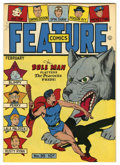 Golden Age (1938-1955):Superhero, Feature Comics #95 Mile High pedigree (Quality, 1946) Condition: NM+. Doll Man cover. Overstreet 2006 NM- 9.2 value = $185. ...