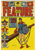 Golden Age (1938-1955):Superhero, Feature Comics #98 Mile High pedigree (Quality, 1946) Condition: NM. Doll Man cover. Overstreet 2006 NM- 9.2 value = $185. ...