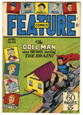 Golden Age (1938-1955):War, Feature Comics #109 Mile High pedigree (Quality, 1947) Condition:NM. Doll Man cover. Overstreet 2006 NM- 9.2 value = $140. ...