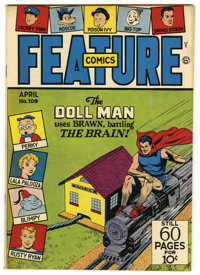 Feature Comics #109 Mile High pedigree (Quality, 1947) Condition: NM. Doll Man cover. Overstreet 2006 NM- 9.2 value = $1...