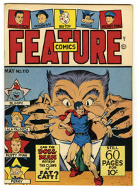 Feature Comics #110 Mile High pedigree (Quality, 1947) Condition: NM-. Doll Man cover. Overstreet 2006 NM- 9.2 value = $...