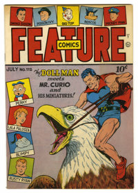 Feature Comics #112 Mile High pedigree (Quality, 1947) Condition: NM-. Doll Man cover. Overstreet 2006 NM- 9.2 value = $...