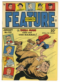 Feature Comics #130 Mile High pedigree (Quality, 1949) Condition: NM. Doll Man cover. Overstreet 2006 NM- 9.2 value = $1...