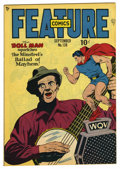 Golden Age (1938-1955):Superhero, Feature Comics #138 Mile High pedigree (Quality, 1949) Condition: NM. Doll Man cover. Overstreet 2006 NM- 9.2 value = $140. ...