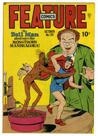Feature Comics #139 Mile High pedigree (Quality, 1949) Condition: NM+. Last Doll Man story and cover. Overstreet 2006 NM...