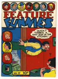 Feature Funnies #17 Mile High pedigree (Chesler, 1939) Condition: VG. Overstreet 2006 VG 4.0 value = $100. From the Coll...