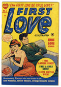 "Golden Age (1938-1955):Romance, First Love Illustrated #7 Davis Crippen (""D"" Copy) pedigree(Harvey, 1950) Condition: FN. Overstreet 2006 FN 6.0 value = $24..."