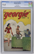 "Golden Age (1938-1955):Humor, Georgie Comics #1 Davis Crippen (""D"" Copy) pedigree (Timely, 1945) CGC VF/NM 9.0 Off-white pages. Dave Berg art. Only CGC-gr..."