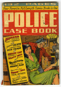 Giant Comics Editions #5 Police Case Book (St. John, 1949) Condition: GD. Matt Baker cover. This copy contains five rema...