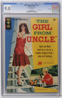 Girl From U.N.C.L.E. #3 File Copy (Gold Key, 1967) CGC VF/NM 9.0 White pages. Photo front and back covers featuring Step...