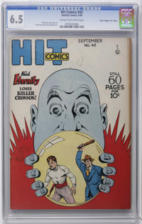 """Hit Comics #42 Davis Crippen (""""D"""" Copy) pedigree (Quality, 1946) CGC FN+ 6.5 Cream to off-white pages. Just on..."""