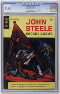 Silver Age (1956-1969):Adventure, John Steele Secret Agent #1 File Copy (Gold Key, 1964) CGC NM 9.4 Off-white to white pages. Painted cover. Painted Back cove...