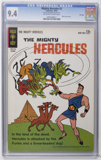 Mighty Hercules #2 File Copy (Gold Key, 1963) CGC NM 9.4 Off-white to white pages. Back cover pin-up. Highest CGC grade...