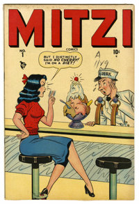 "Mitzi Comics #1 Davis Crippen (""D"" Copy) pedigree (Timely, 1948) Condition: VF. Harvey Kurtzman's ""Hey Lo..."