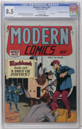 """Golden Age (1938-1955):War, Modern Comics #83 Davis Crippen (""""D"""" Copy) pedigree (Quality, 1949)CGC VF+ 8.5 Off-white pages. Torchy story. Reed Crandall..."""
