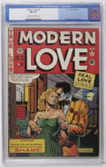"Golden Age (1938-1955):Romance, Modern Love #5 (EC, 1950) CGC FN 6.0 Cream to off-white pages. AlFeldstein cover and art. Considered ""scarce"" by Overstreet..."