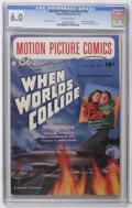 "Golden Age (1938-1955):Science Fiction, Motion Picture Comics #110 (Fawcett, 1952) CGC FN 6.0 Off-whitepages. ""When Worlds Collide."" George Evans and Al Williamson..."