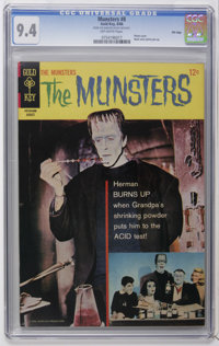 Munsters #8 File Copy (Gold Key, 1966) CGC NM 9.4 Off-white pages. Photo cover. Back cover pin-up. Highest CGC grade for...