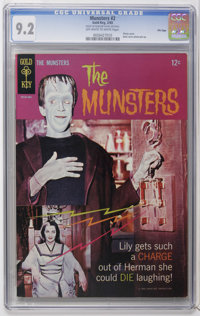 Munsters File Copies CGC Group (Gold Key, 1965-68). Issues include #2, 4, 14, and 15, all in CGC NM- 9.2 condition, and...