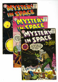 Silver Age (1956-1969):Science Fiction, Mystery in Space Group (DC, 1958-59) Condition: Average VG+.Includes #41, 42, 43, 44, #47 (Space Cabbie feature ends), 49, ...(Total: 9 Comic Books)