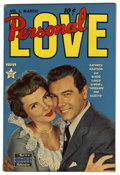 Golden Age (1938-1955):Romance, Personal Love #2 (Famous Funnies, 1950) Condition: VF/NM. Vocalistextraordinaire Mario Lanza is featured on the photo cover...