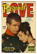 Golden Age (1938-1955):Romance, Personal Love #31 (Famous Funnies, 1955) Condition: VF/NM. MarlonBrando photo cover. Contains an unusual appeal to readers ...