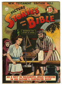 Picture Stories from the Bible New Testament #1 (DC, 1944) Condition: FN. Based on this copy's provenance we think it's...